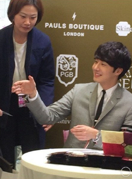 2015 5 19 Jung Il Woo attends the '2015 China Shanghai Cosmetics and Beauty Expo' 23