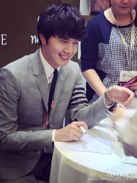 2015 5 19 Jung Il Woo attends the '2015 China Shanghai Cosmetics and Beauty Expo' 3