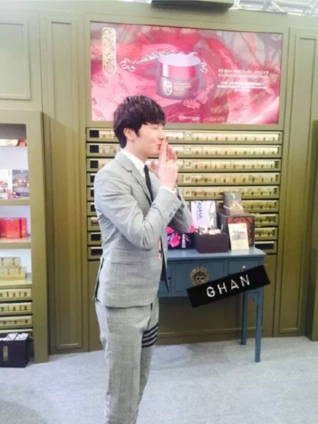 2015 5 19 Jung Il Woo attends the '2015 China Shanghai Cosmetics and Beauty Expo' 81