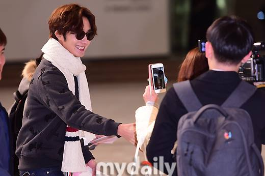 2015 12 3 Jung Il-woo headed to China for High End Crush Event. Cr. On photo 1