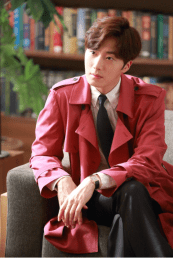2015 Jung Il-woo in High End Crush Magenta Overcoat Cr. SOHU TV 3