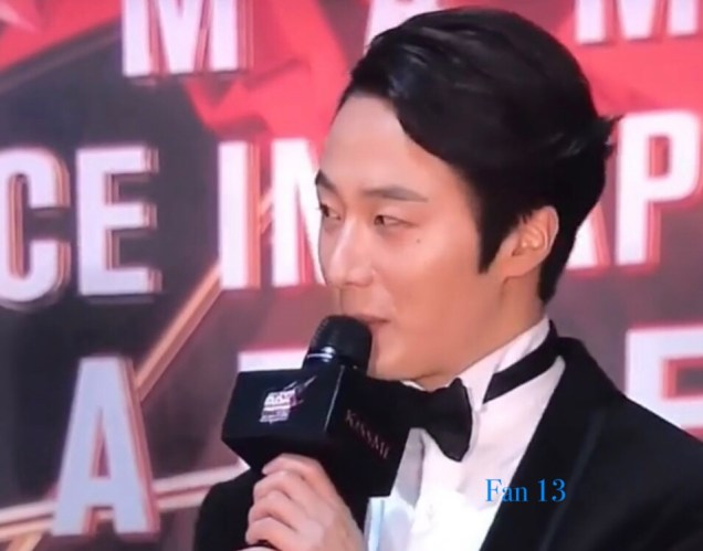 2018 12 12 Jung Il-woo at the MAMA Awards. Cr. Mnet Edits Fan138