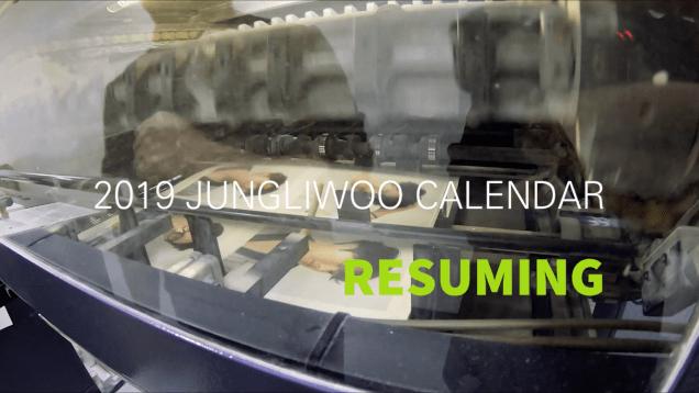 2019 Jung Il woo calendar images. Cr. jungilwoo.com 5