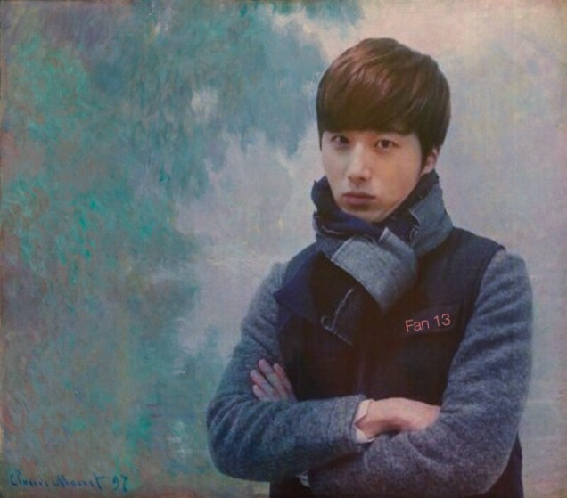 """Jung Il-woo art inspired by Monet's """"Seine close to Giverny Sunrise"""" .JPG"""