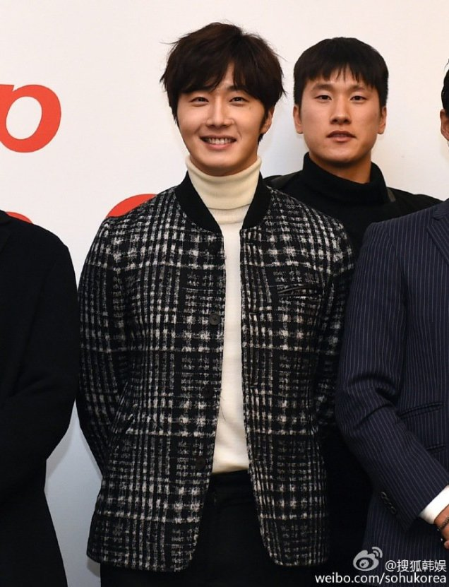 2016 1 10 jung il-woo (among others) at a smile cup press conference. 11