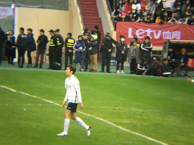 2016 1 10 jung il-woo playing soccer in the 2016 asian smile cup. 50