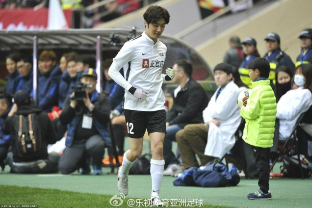 2016 1 10 jung il-woo playing soccer in the 2016 asian smile cup. 61