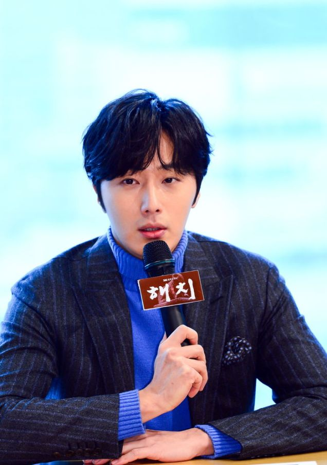 2019 1 21 jung il-woo at the sbs press conference for haechi. cr. sbs 6