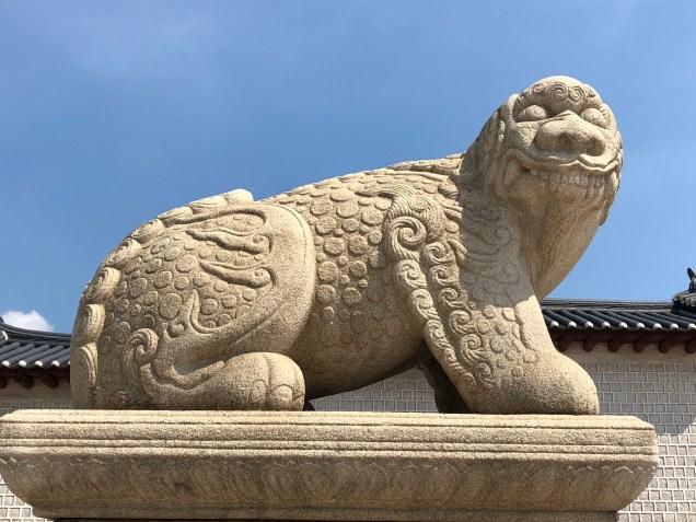 Haechi statue infront of Gyeongbokgung Palace. Cr.MGA .jpg