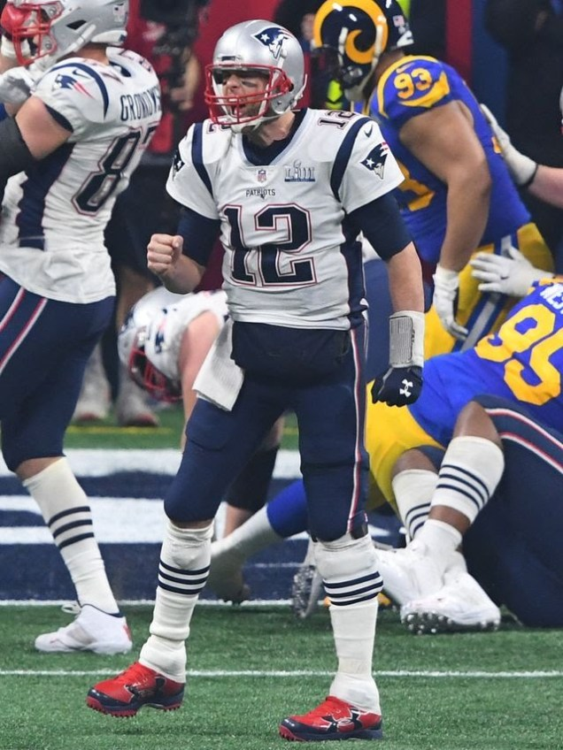 2019 2 3 New England Patriots win their 6th Superbowl in 18 years. They celebrate it with family. 1