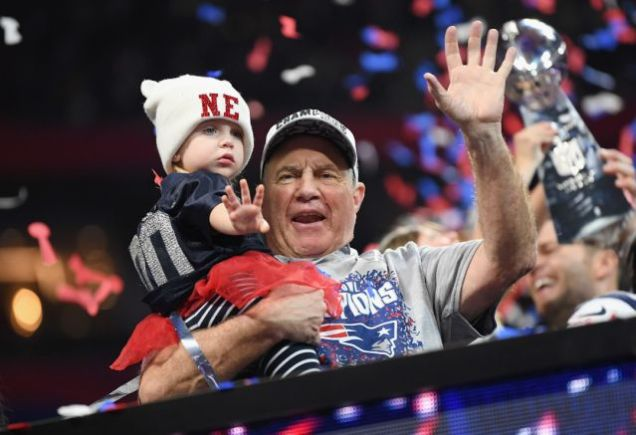 2019 2 3 New England Patriots win their 6th Superbowl in 18 years. They celebrate it with family. 6