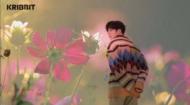 2019 3 Jung Il-woo in oversized sweater cuteness and overcaot for Kribbit Magazine. FLower ones edited by Fan 13 1