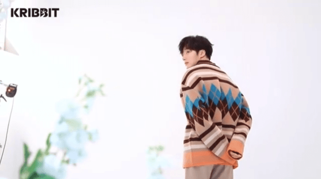 2019 3 Jung Il-woo in oversized sweater cuteness and overcaot for Kribbit Magazine. FLower ones edited by Fan 13 11