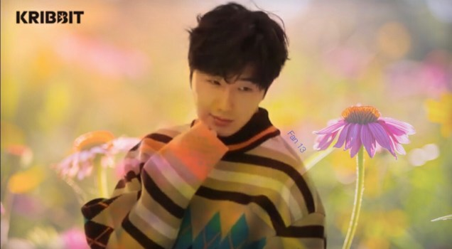2019 3 Jung Il-woo in oversized sweater cuteness and overcaot for Kribbit Magazine. FLower ones edited by Fan 13 2