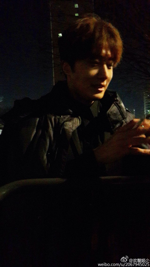 2016 Jung Il-woo in Cinderella and the Four Knights. Behind the Scenes. Fans. Black, Night Cr. tvN 3