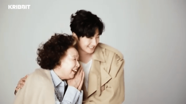 2018 3 19 Jung Il-woo and Na Mun-hee in Kribbit's photo shoot. 2
