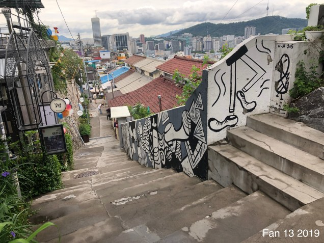 2019 8 10 Ihwa Mural Village in Seoul. By Fan 13. 14.8