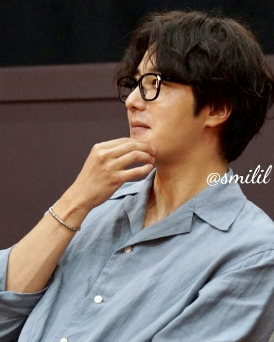 2019 7 21 Jung Il-woo at the Q & A session of the screening of the movie Black Summer. Cr. @ smilil 7