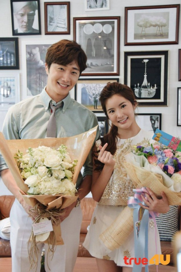 Jung Il-woo with Mild welcomed on their first day of shooting Love and Lies. Cr. LeayDoDee Studio & True 4U TV. 10