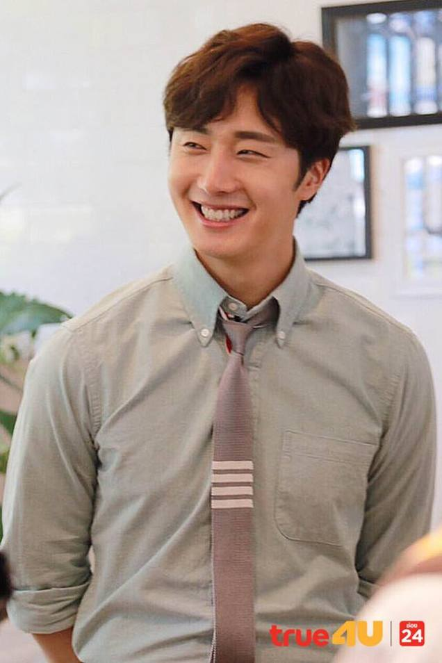 Jung Il-woo with Mild welcomed on their first day of shooting Love and Lies. Cr. LeayDoDee Studio & True 4U TV. 3