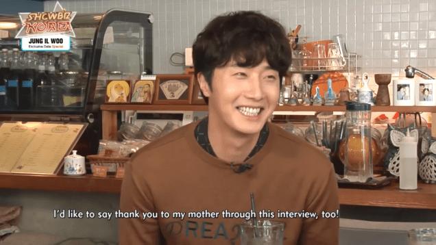 2016 9 21 Jung Il-woo in the TV Program Showbiz Korea. Cr. Arirang Kpop. 2