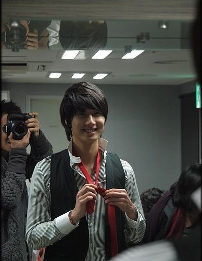 2007 Jung Il-woo BTS for the Press Conference of the movie My Love.2.jpg