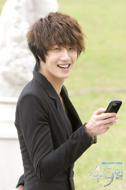 2011 Jung Il woo as The Scheduler in 49 Days. Black Jacket. 3.jpg