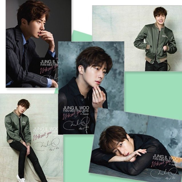 2016 Jung Il woo images with the Green Jacket from his 10th Anniversary. 2