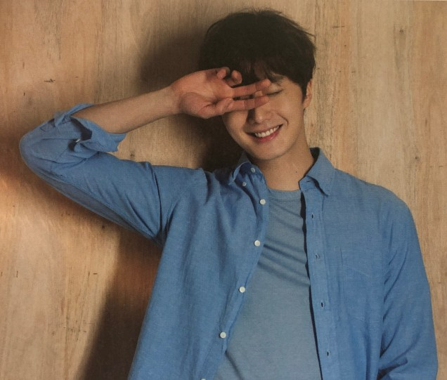 2016 Jung Il woo in his 10th Anniversary Thank You! Book. Blue Shirt.1