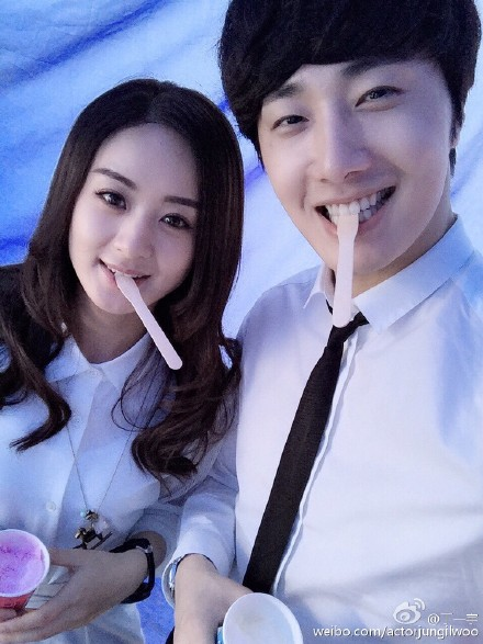 2015 5  Jung Il Woo in BTS of The Rise of a Tomboy. Photos with Zanilia Zhao. 3.jpg