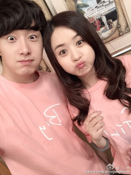 2015 5 Jung Il Woo in BTS of The Rise of a Tomboy. Social Media Posts with Zanilia Zhao. 4