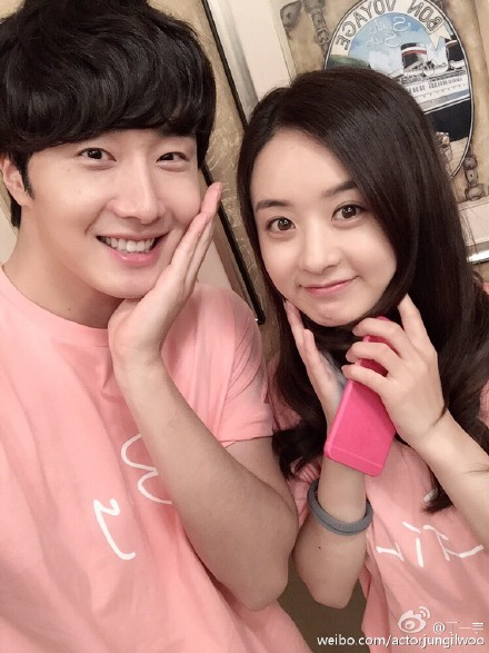 2015 5  Jung Il Woo in BTS of The Rise of a Tomboy. Social Media Posts with Zanilia Zhao. 6.jpg