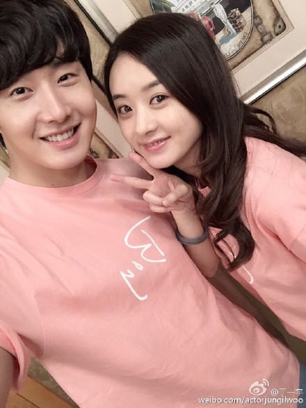 2015 5  Jung Il Woo in BTS of The Rise of a Tomboy. Social Media Posts with Zanilia Zhao. 7.jpg