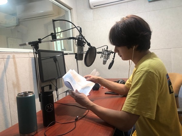2019 11 26 Jung Il woo records his voice for an exhibit about Gaya for the National Museum of Korea. 5