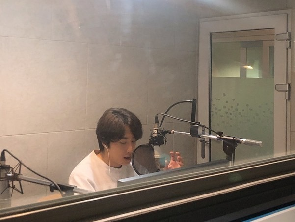 2019 11 26 Jung Il woo records his voice for an exhibit about Gaya for the National Museum of Korea. 7