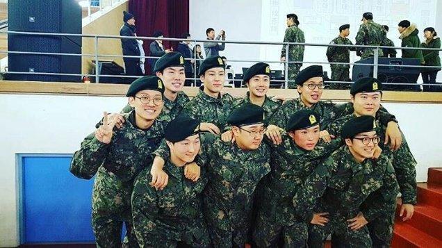 Jung II-woo during Military Basic Training 10