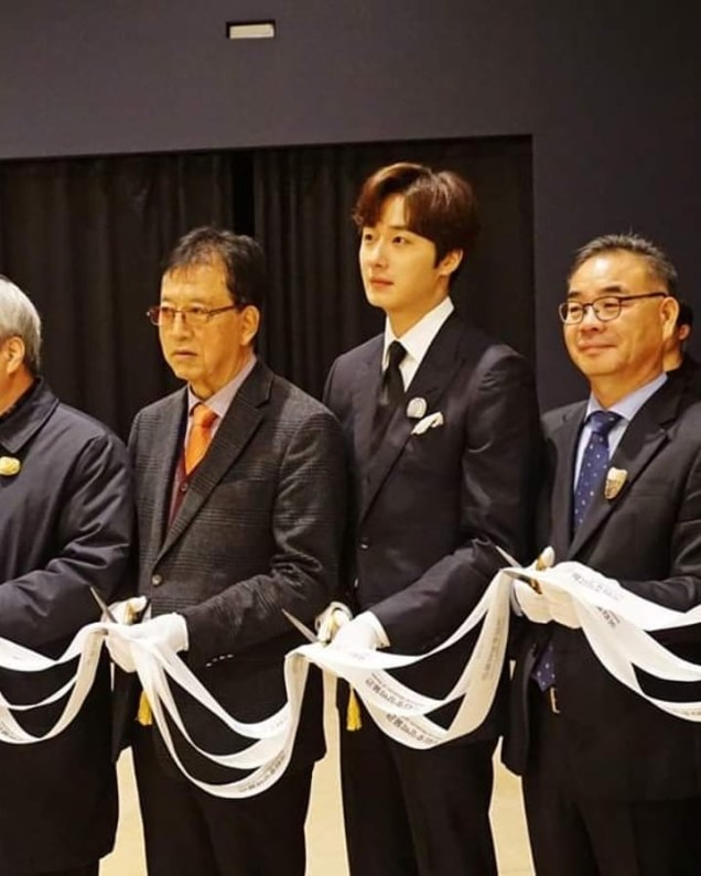 2019 12 3 Jung Il woo attending the Gaya Exhibit at the National Museum of Korea. Cr. National Museum of Korea. 4