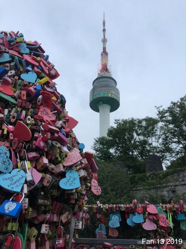 2019 Trip to Namsan Tower, Seoul. By Fan 13. 8