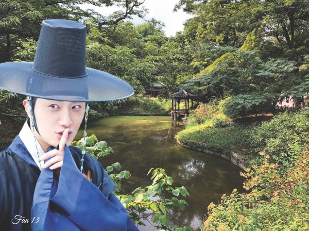 Jung Il Woo at Changdeokgung Photo Composite by Fan 13. 4