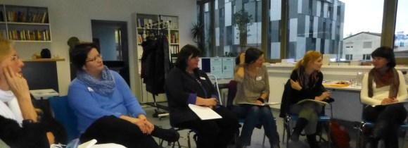 Teilnehmerinnen des ersten Workshops im Rahmen der JBZ-MethodenAkademie