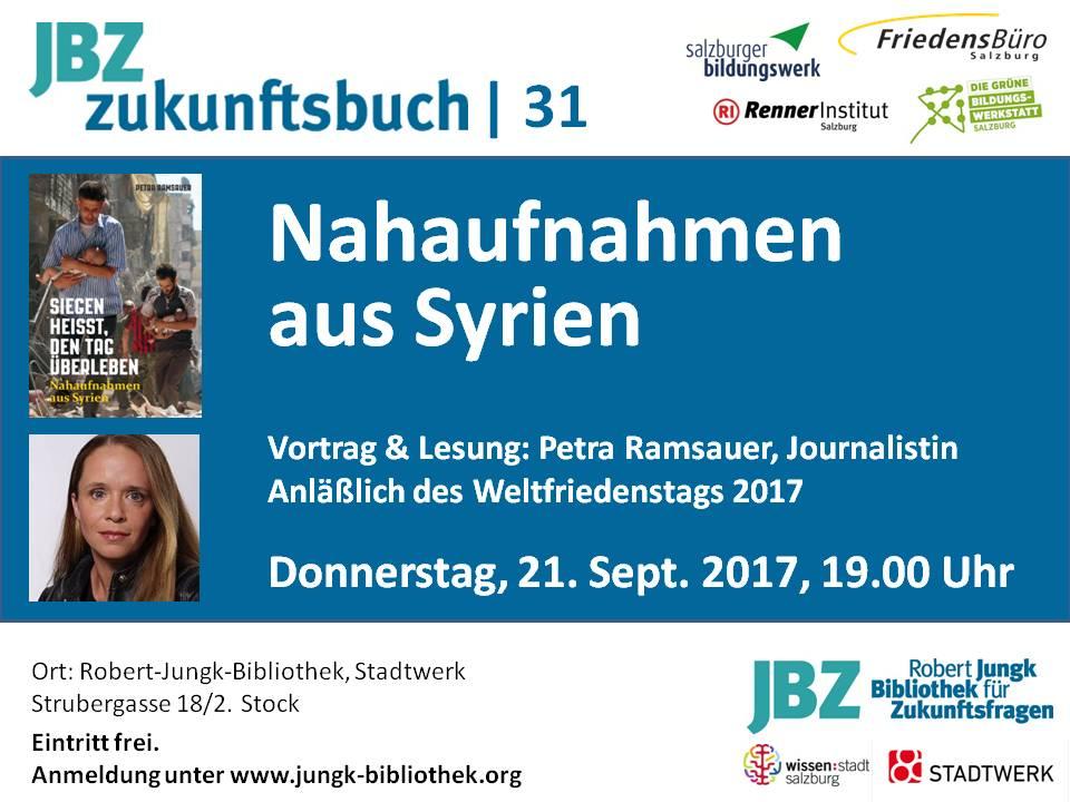 Zukunftsbuch mit Petra Ramsauer zu Syrien