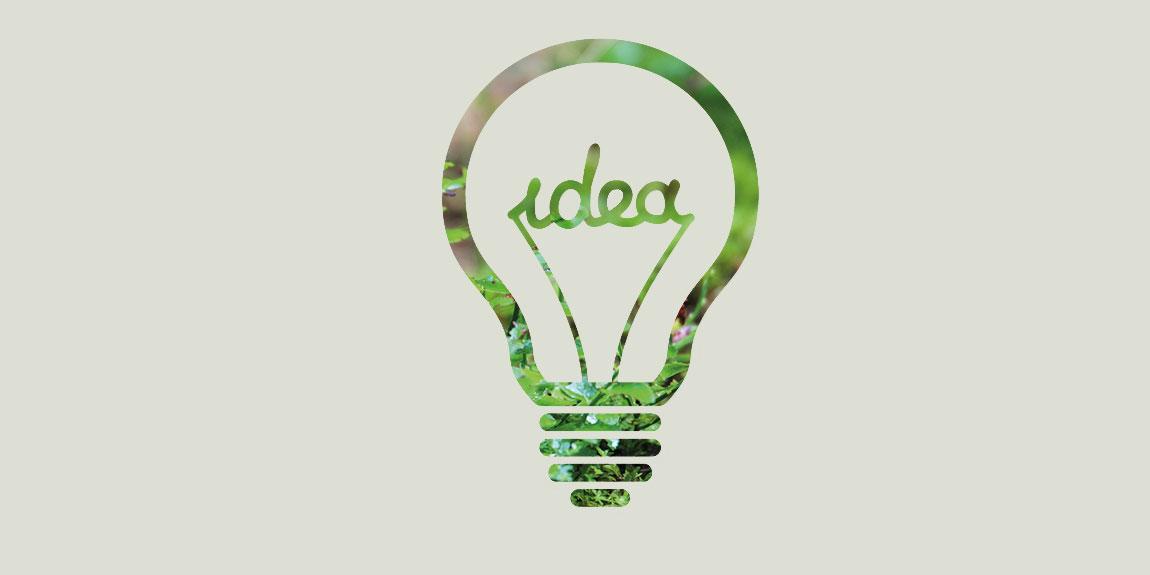 Ideenfindung, leuchtende Ideen der Beratungsbranche.