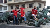 Monumento al encierro de Pamplona