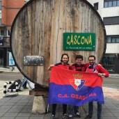 Osasunistas en la Gascona, Oviedo.