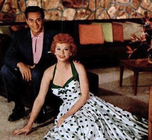 Mr. and Mrs. Arnaz carpet their dream home