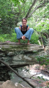 Bhujapidasana in western PA, 2010. Photo by Don