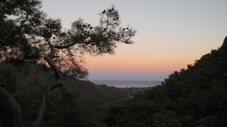 A spectacular sunset from up on the fiery mountain.