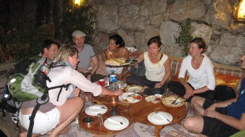 On the way home, we had a lively dinner at the River Cafe.