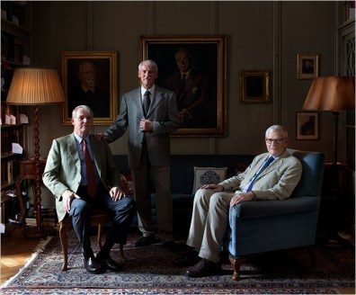 SHARING THE LEGACY From left, Peter and Andreas Jung and Ulrich Hoerni, grandsons of Carl Jung, at Jung's home in Küsnacht, Switzerland. Désirée Good for The New York Times