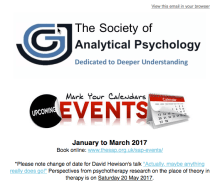 Upcoming Events from the Society of Analytical Psychology